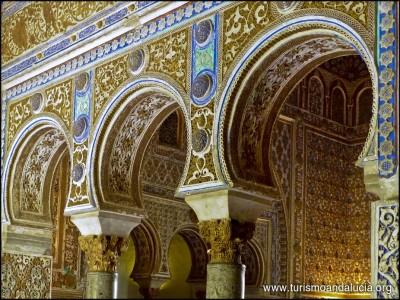 Arcos en los Reales Alcazares Sevilla