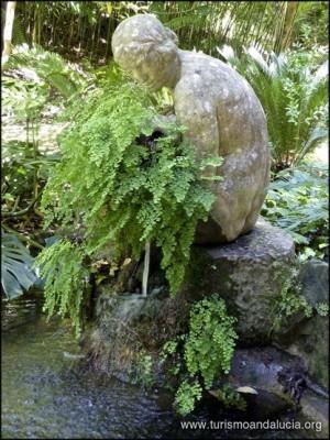 Fuente en el Jardín Botánico de La Concepción