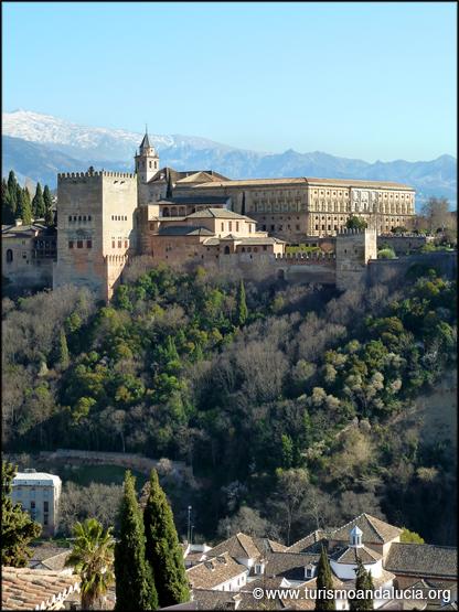 Vista de la Alhambra y Sierra Nevada