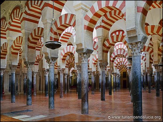 Columnas en la Mezquita de Córdoba